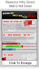 Direct Mail is Not Dead infographic