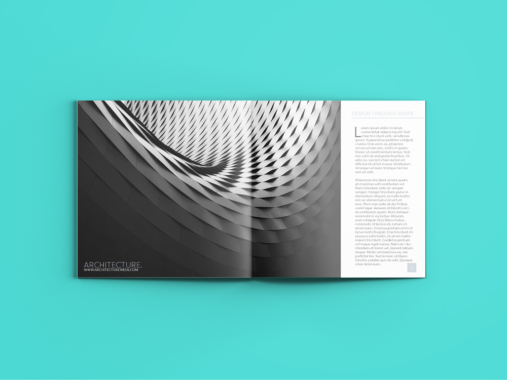 Architect spread in magazine Design services