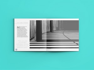 Vertical spread architecture magazine