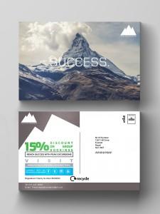 Mail Shot C5 Postcard Mock up & logo design central mailing services