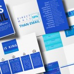Brochure Design for Displaying Infographics about Mailing & Marketing Statistics