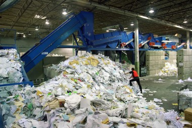 Green printing paper recycling plant