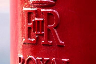 Red Royal Mail post box