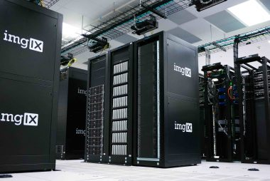 Large Black Servers in a data centre