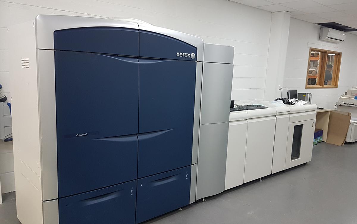 Xerox 800 Colour Press in CMS print room